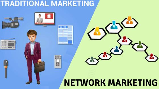 traditional marketing v/s network marketing