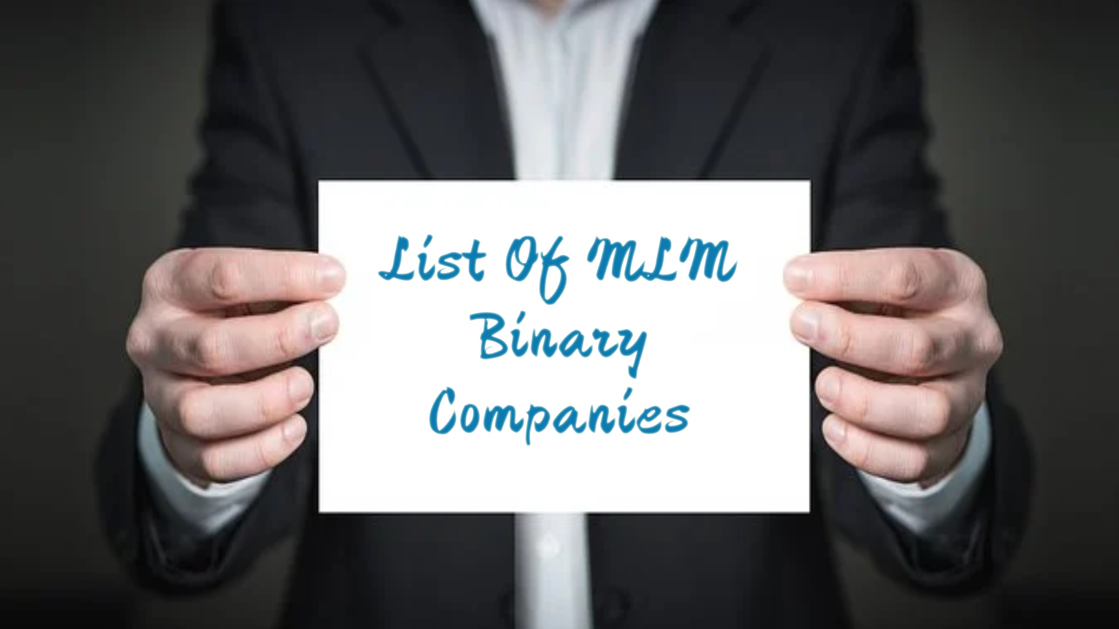 List of MLM Binary Companies